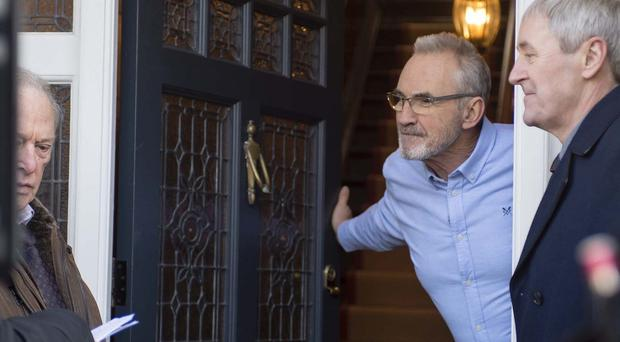 Larry Lamb on set filming New Tricks in Ealing, west London (Wire Media)
