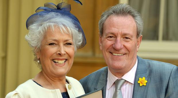 Lynda Bellingham, with her husband Michael