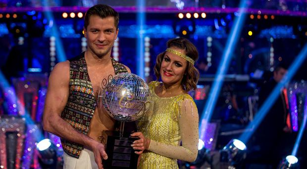 Pasha Kovalev and Caroline Flack who are the winners of Strictly Come Dancing 2014