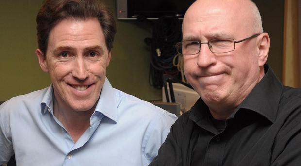 It isn't the first time that Rob Brydon has posed as Ken Bruce