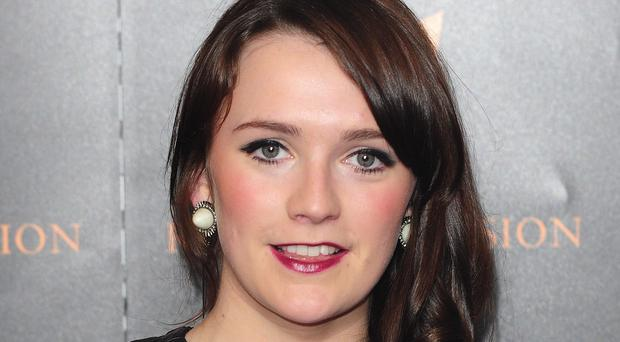 Charlotte Ritchie arrives at the Royal Television Society awards held at the Grosvenor Hotel in London.