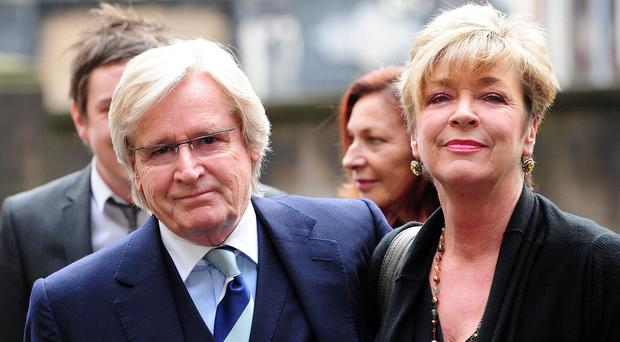 Anne Kirkbride with Coronation Street co-star William Roache