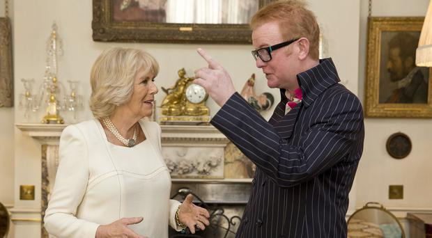 Chris Evans met the Duchess of Cornwall at Clarence House