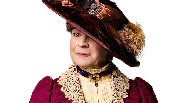 David Suchet as Lady Bracknell in his forthcoming production of The Importance of Being Earnest