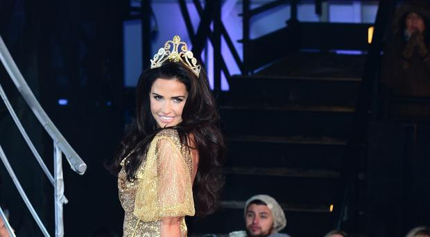 Katie Price enters the Celebrity Big Brother house during the latest series of the Channel 5 programme