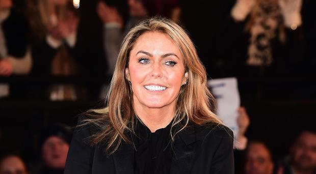 Patsy Kensit is evicted from the Celebrity Big Brother house,with Emma Willis, during the latest series of the Channel 5 programme, at Elstree Studios in Borehamwood.