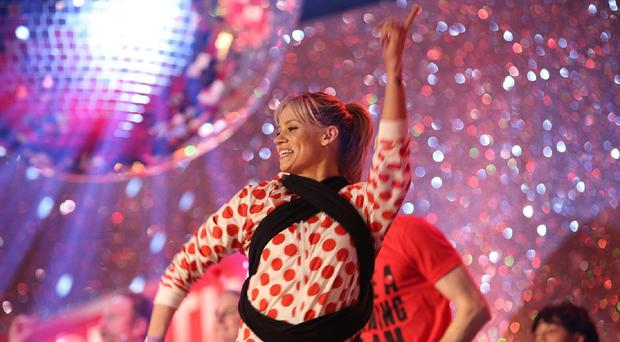 Kimberly Wyatt took part in the Comic Relief Danceathon