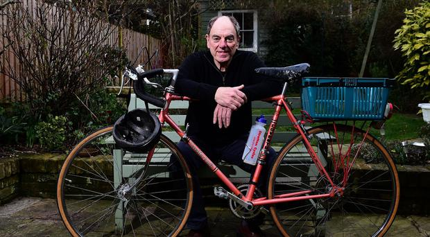 Alun Armstrong, 68, who is selling his alter-ego Brian Lane's bike from TV show New Tricks for charity