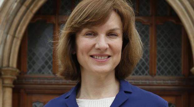 Fiona Bruce said the punch in the Vicar of Dibley sketch was not in the script