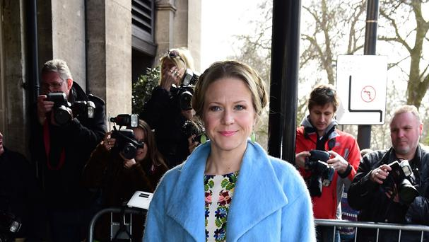 Kellie Bright shrugged off her wardrobe malfunction on the set of EastEnders