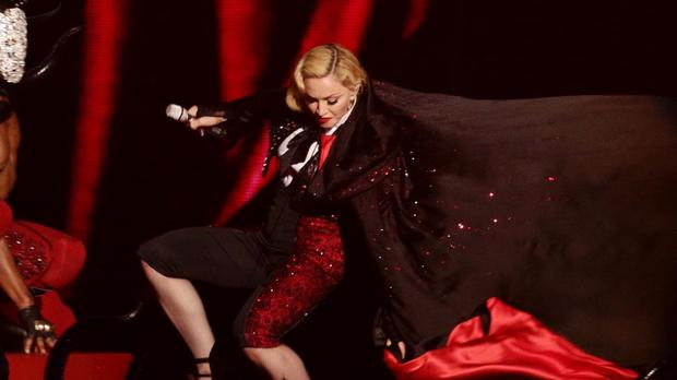 Madonna came a cropper with a tumble at the Brit Awards