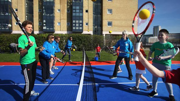 Judy Murray launches the new Highland Spring Everyone for Tennis campaign in London