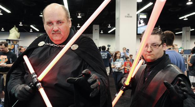 Star Wars fans attending the Star Wars Celebration in California (AP)