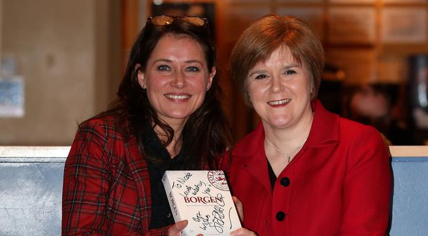 Borgen star Sidse Babett Knudsen with fan Nicola Sturgeon in Edinburgh