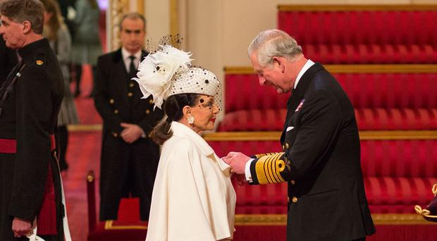 Actress Joan Collins was made a Dame by the Prince of Wales last month (Dominic Lipinski/PA Wire)