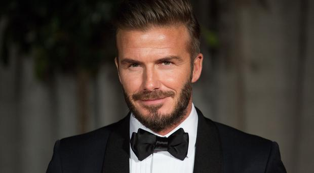 David Beckham was in third place in the poll