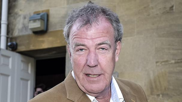 Former presenter Jeremy Clarkson held up a placard in the show