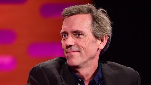 Hugh Laurie during filming of the Graham Norton Show