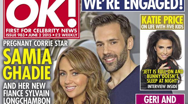 Samia Ghadie and Sylvain Longchambon are expecting their first child