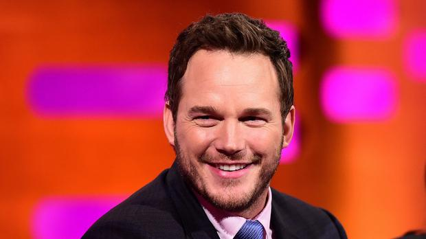 Chris Pratt during filming of the Graham Norton Show