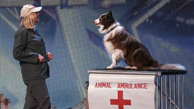 Jules O'Dwyer and Matisse, during the audition stage of Britain's Got Talent (ITV).