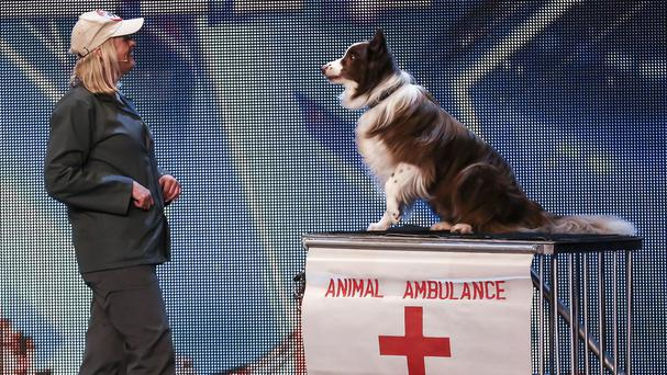 Jules O'Dwyer and Matisse, during the audition stage of ITV1 talent show, Britain's Got Talent (ITV/PA)