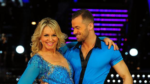 Fern Britton and Artem Chigvintsev on the Strictly Come Dancing-Live Tour at the NIA, Birmingham