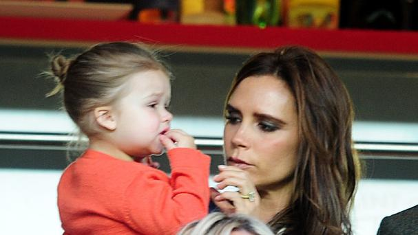 Harper Beckham's designer outfits will be donated to a charity shop
