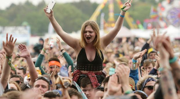 Fans watch Kodaline performing at the Isle of Wight Festival