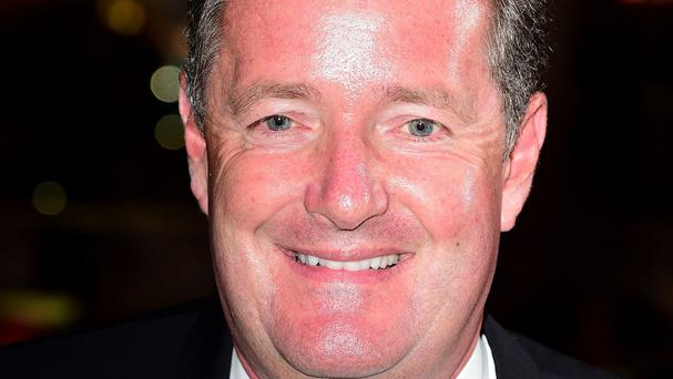 Piers Morgan laughed after his guest on the breakfast TV show swore for a second time