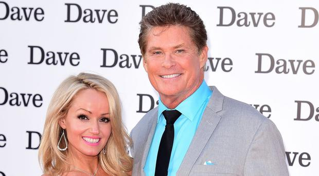 David Hasselhoff with his 33-year-old Welsh girlfriend Hayley Roberts