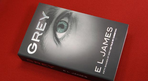 The front cover of Grey, the latest instalment of EL James's sadomasochistic Fifty Shades Of Grey saga