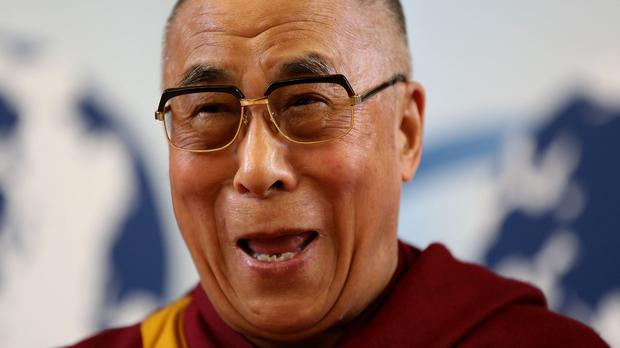 The exiled Tibetan spiritual leader will visit Glastonbury on Sunday