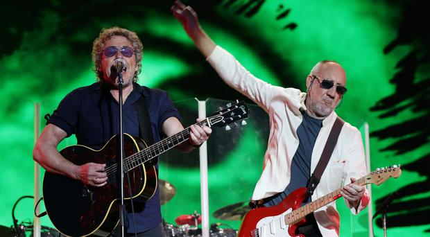 Roger Daltrey and Pete Townshend of The Who headlining Glastonbury