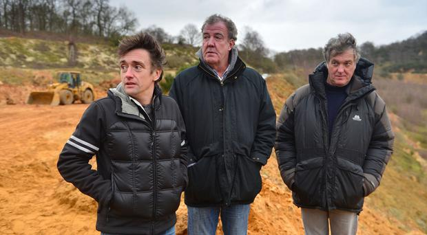 Richard Hammond, Jeremy Clarkson and James May in the final Top Gear show featuring the three presenters (BBC)