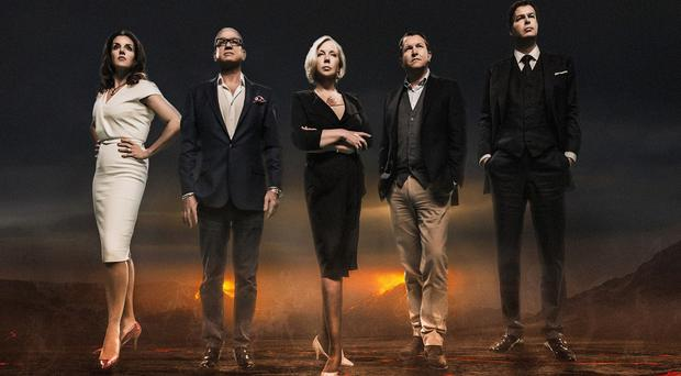 The new Dragons' Den line-up - (left to right) Sarah Willingham, Touker Suleyman, Deborah Meaden, Nick Jenkins and Peter Jones (BBC/PA)