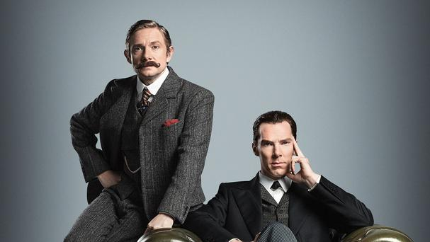 Benedict Cumberbatch (right) and Martin Freeman are returning to period costume for Sherlock