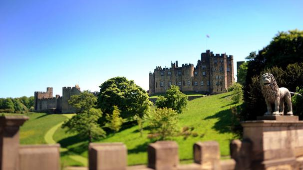 Alnwick Castle is one of the picturesque locations where filming for the final series of Downton Abbey is taking place