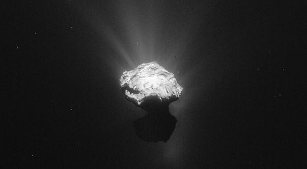 Comet 67P/Churyumov-Gerasimenko photographed by the Rosetta space probe (ESA/PA)