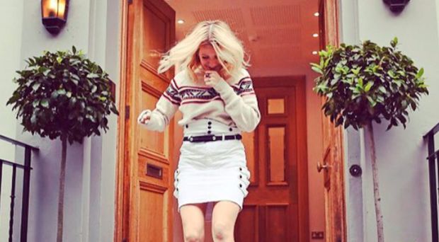 Ellie Goulding leaving London's famous Abbey Road Studios