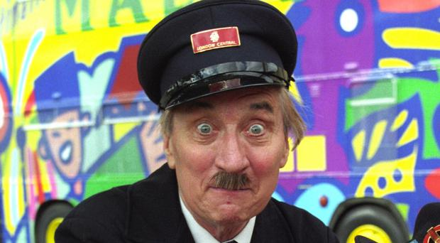 Actor Stephen Lewis, as Blakey from On The Buses