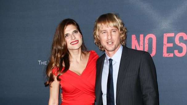 Lake Bell and Owen Wilson attend the Los Angeles premiere of No Escape (AP)