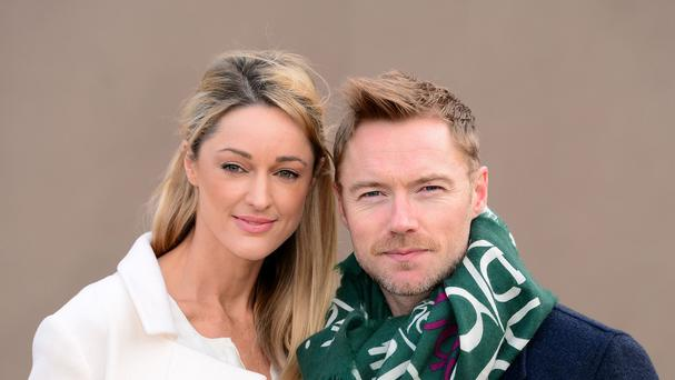 Ronan Keating and Storm Uechtritz attended the Edinburgh tattoo