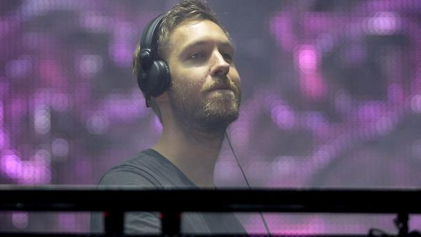 Calvin Harris performing at the V Festival, at Weston Park, Shifnal, Shropshire