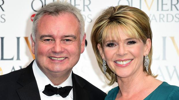 Eamonn Holmes and Ruth Langsford had to cope with a wayward plant on an episode of ITV's This Morning