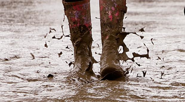 Wellies discarded by Glastonbury revellers are going to migrants in Calais
