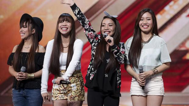 Philippine girl band 4th Power perform during the audition stage for talent show The X Factor (ITV/PA)