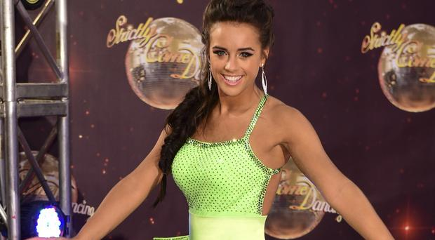 Former Coronation Street star Georgia May Foote arriving at the launch of Strictly Come Dancing 2015