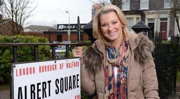 Gillian Taylforth reprises her EastEnders role as Kathy Beale