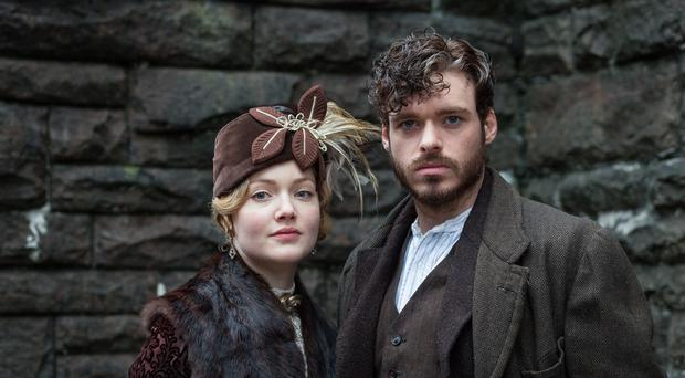 Holliday Grainger plays Constance Chatterley and Richard Madden gamekeeper Oliver Mellors in BBC One's Lady Chatterley's Lover.